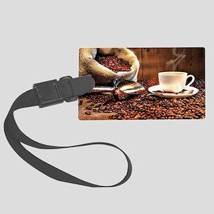 Coffee Aroma Large Luggage Tag