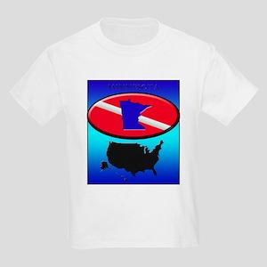 Minnesota Dive Flag Kids Light T-Shirt