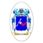 Evangelista Sticker (Oval 50 pk)