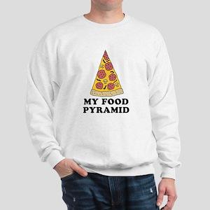 Pizza Food Pyramid Sweatshirt