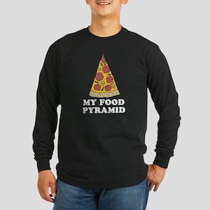 Pizza Food Pyramid Long Sleeve T-Shirt