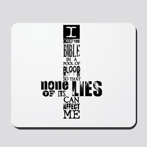 Bible in Blood Mousepad