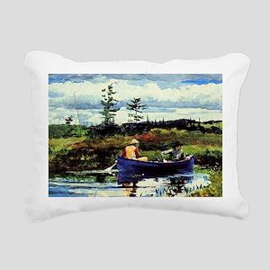 Winslow Homer - The Blue Rectangular Canvas Pillow