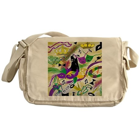 mardi gras party Messenger Bag