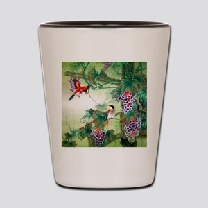 Beautiful Nature & Birds Motif Shot Glass