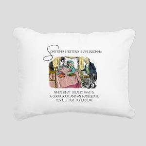 Insomnia and a Good Book Rectangular Canvas Pillow