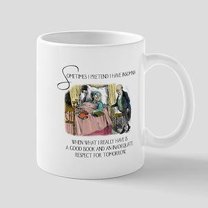 Insomnia and a Good Book Mug