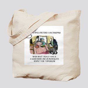 Insomnia and a Good Book Tote Bag