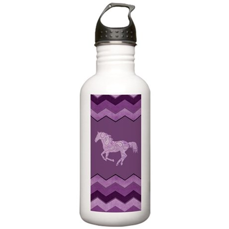 Purple Paisley Horse Stainless Water Bottle 1.0L