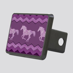 Purple Paisley Horse Rectangular Hitch Cover