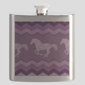 Purple Paisley Horse Flask