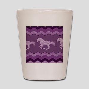 Purple Paisley Horse Shot Glass