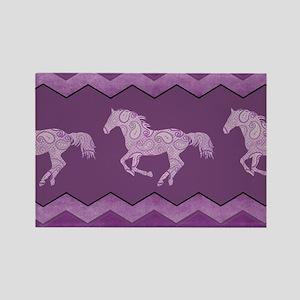 Purple Paisley Horse Rectangle Magnet