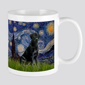 Starry Night Black Lab Mug