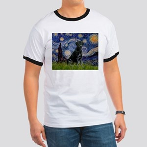 Starry Night Black Lab Ringer T