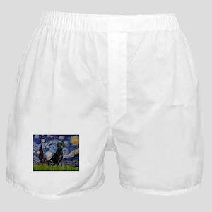 Starry Night Black Lab Boxer Shorts