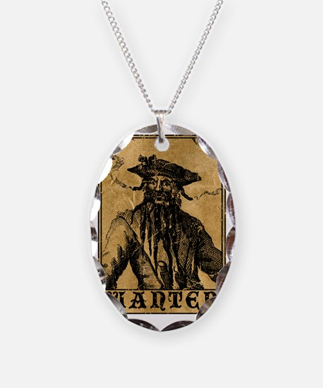 Blackbeard Wanted Poster Necklace