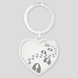 goat prints Heart Keychain