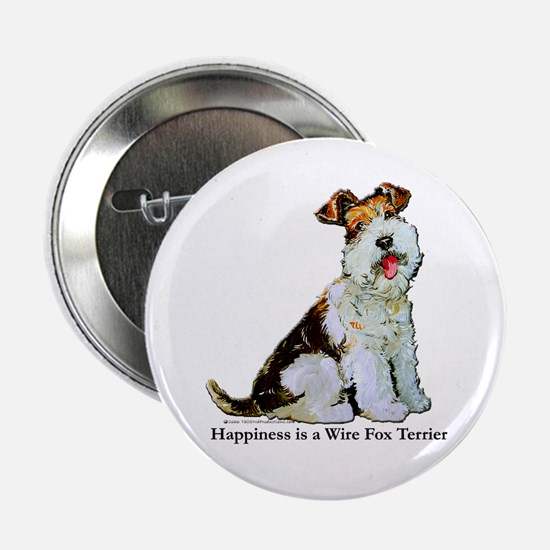 Fox Terrier Happiness Button