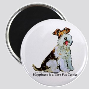 "Fox Terrier Happiness 2.25"" Magnet (10 pack)"