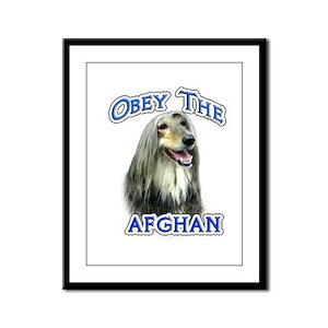 Afghan Obey Framed Panel Print