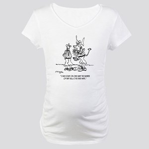 Space Alien Referee Maternity T-Shirt