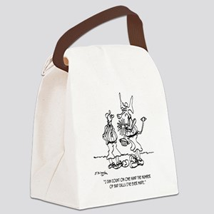Space Alien Referee Canvas Lunch Bag