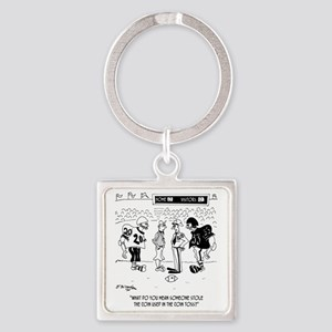 Referees Coin Toss Coin Stolen Square Keychain