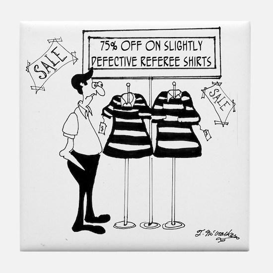 Slightly Defective Referee Shirts Tile Coaster