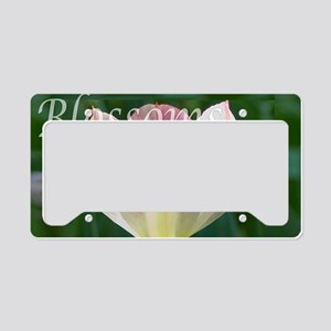 Blossoms License Plate Holder