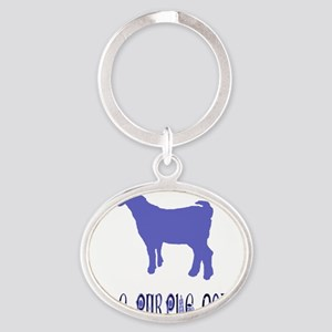 The Purple Goat Oval Keychain