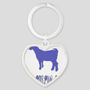 The Purple Goat Heart Keychain