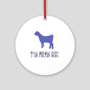 The Purple Goat Round Ornament