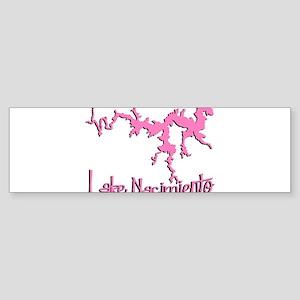 NACI_5T_PINK_BLK Bumper Sticker