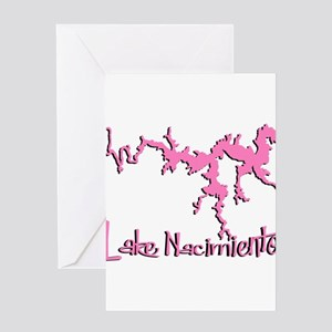 NACI_5T_PINK_BLK Greeting Cards