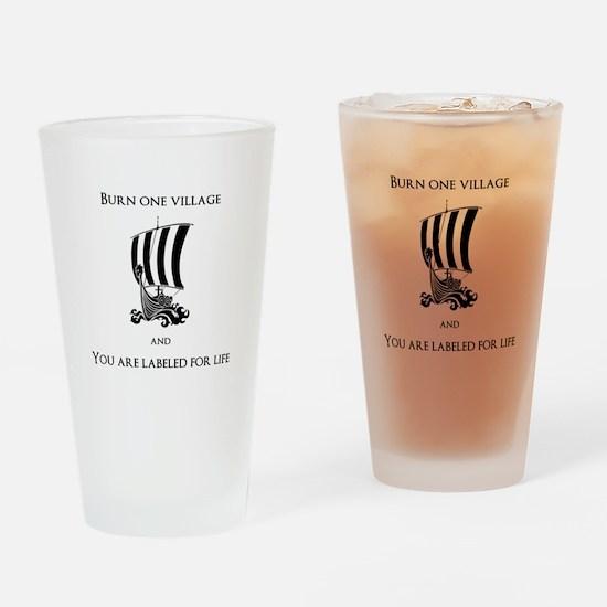 Viking -Burn one village Drinking Glass