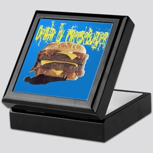 Death By Cheeseburger2 Keepsake Box