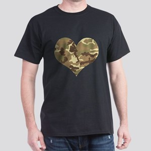 Camouflage Heart Green and Brown T-Shirt