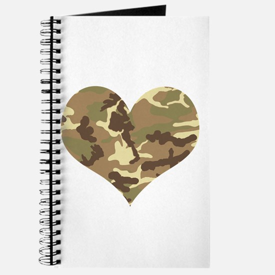 Camouflage Heart Green and Brown Journal