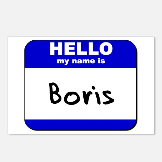 hello my name is boris  Postcards (Package of 8)