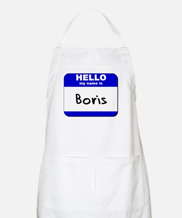 hello my name is boris  BBQ Apron