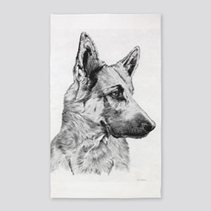 German Shepherd 3'X5' Area Rug