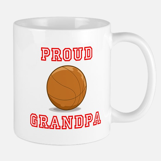 Proud Basketball Grandpa Mugs