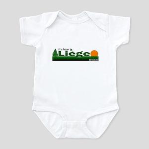 Its Better in Liege, Belgium Infant Bodysuit