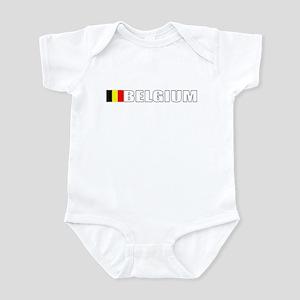 Belgium Flag (Dark) Infant Bodysuit