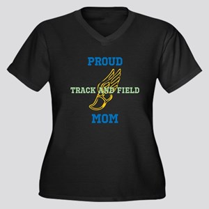 Track and Field Mom Plus Size T-Shirt