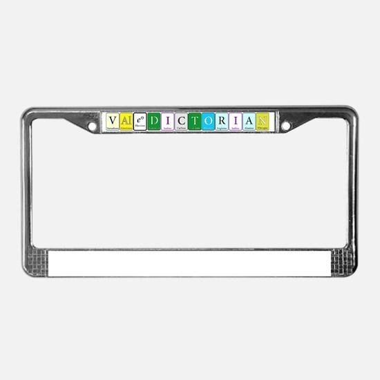 Valedictorian License Plate Frame