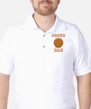 Proud Basketball Dad Golf Shirt