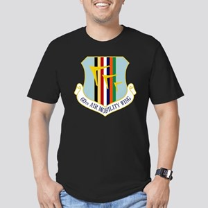 60th Air Mobility Wing Men's Fitted T-Shirt (dark)