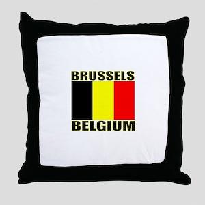 Brussels, Belgium Throw Pillow